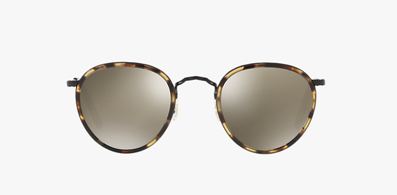Oliver Peoples MP -2 Sun in Hickory Tortoise + Dark Grey Mirror Gold Lens