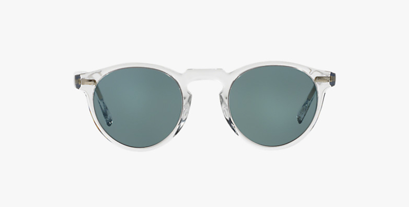 Oliver Peoples Gregory Peck Sun in Crystal + Blue Photocromic Lens