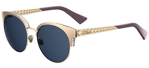 Dior Ladies Sunglasses Diorama Mini in Light Gold/Blue