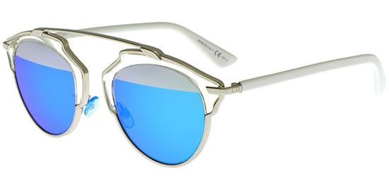 Dior Ladies Sunglasses SoReal in Palladium Pale/Silver Blue