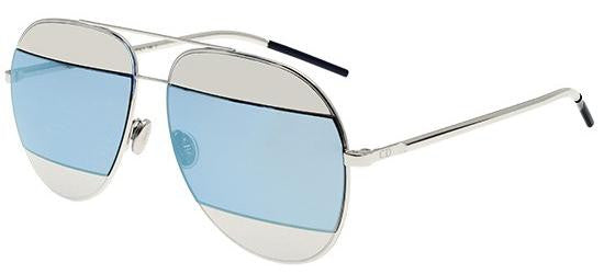 Dior Ladies Sunglasses Split 1 in Palladium/Silver Blue