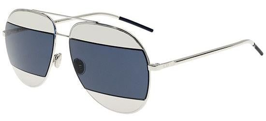 Dior Ladies Sunglasses Split 1 in Palladium/Blue