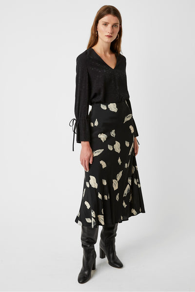 Great Plains -Jupe ''Winter Umbra Midi Skirt'' - Noir