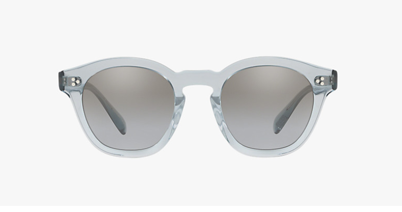 Oliver Peoples Boudreau L.A in Light Denim Blue  + Light Grey Mirror Gradient Silver lens