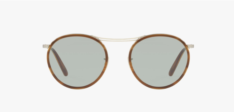Oliver Peoples Mp-3 30th in Brushed Silver + Green Lens