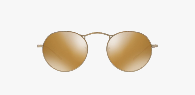 Oliver Peoples M-4 30th in Antique Gold + Light Brown Mirror Gold Lens