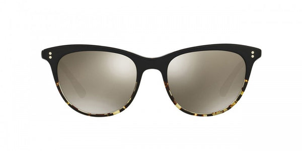 Oliver Peoples Jardinette Sun in Black/DTBK + Grey Goldtone Glass