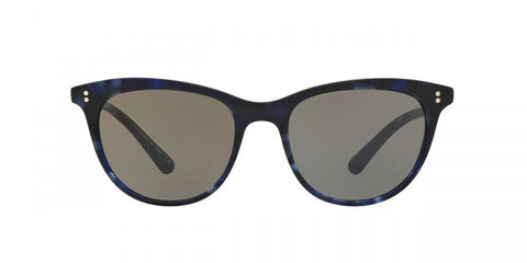 Oliver Peoples Jardinette Sun in Cobalt Tortoise + Carbon Grey Glass