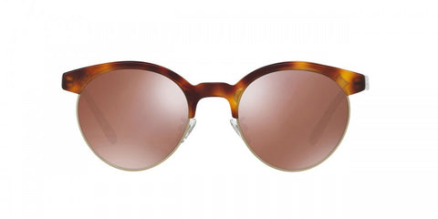 Oliver Peoples Ezelle in Dark Mahogany/BG + Rose Goldtone Glass