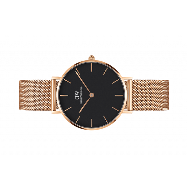 Daniel Wellington Women Classic Petite Mesh black in 32MM