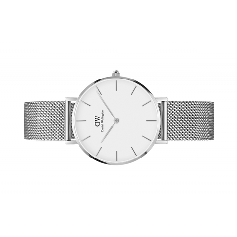 Daniel Wellington Women Classic Petite Mesh white in 32MM