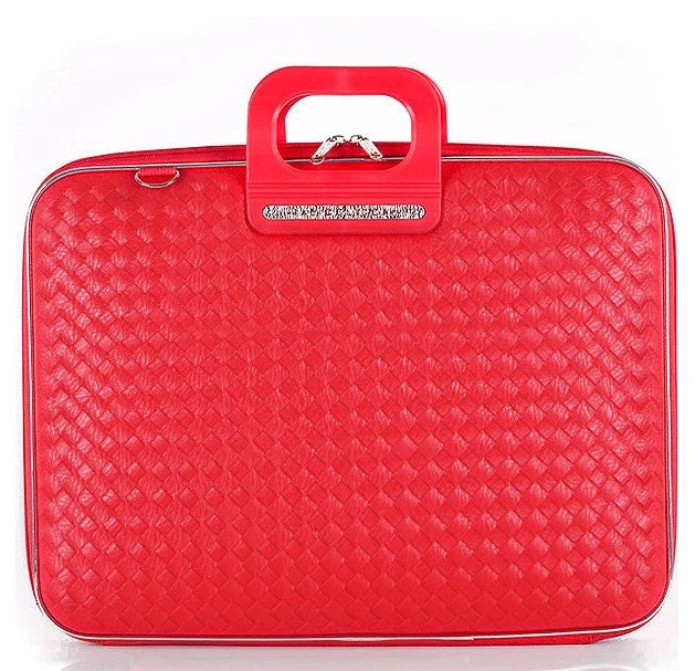 Bombata Bag Murano Weaved Briefcase - Red