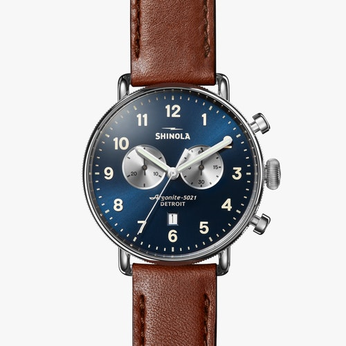 Shinola Watch The Canfield Chrono 43mm in Blue