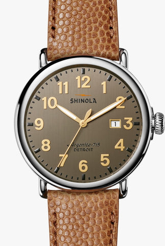 Shinola watch THE RUNWELL 47MM in 	BRUSHED DARK GUN DIAL
