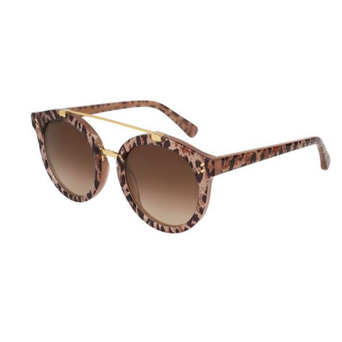 Stella McCartney Eyewear Brown Gradient Round Ladies Sunglasses