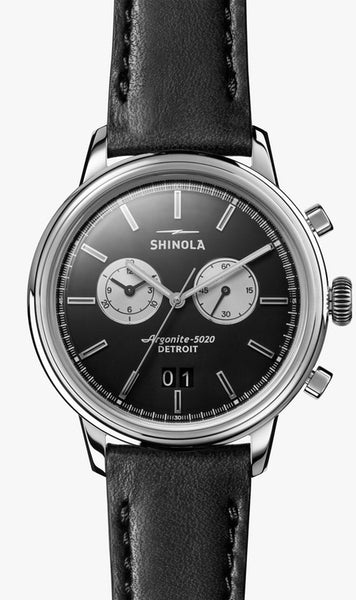 Shinola watch THE BEDROCK CHRONO 42mm in Black