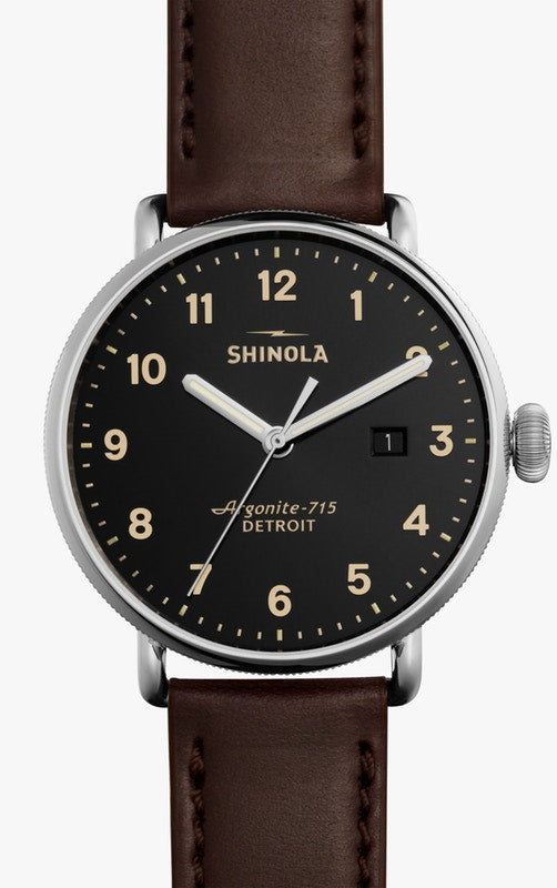 Shinola watch THE CANFIELD 43mm in Black