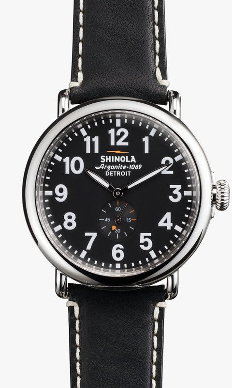 Shinola watch THE RUNWELL 41mm in Black