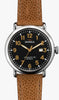 Shinola watch THE RUNWELL 41mm in Camel and Black