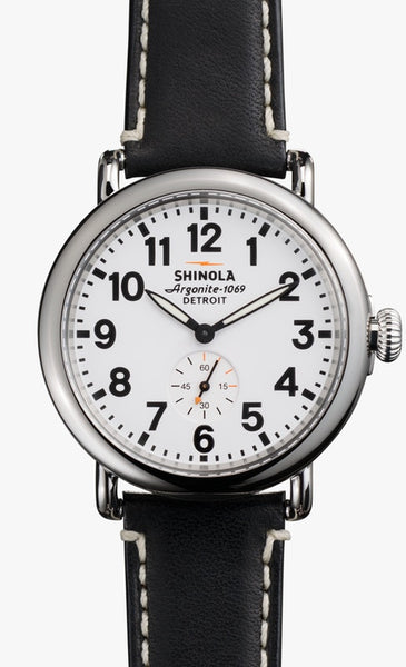 Shinola watch THE RUNWELL 41mm in White Black