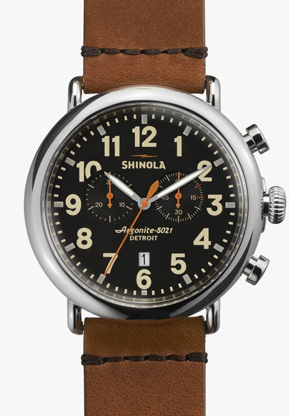 Shinola watch THE RUNWELL CHRONO 41mm in Black