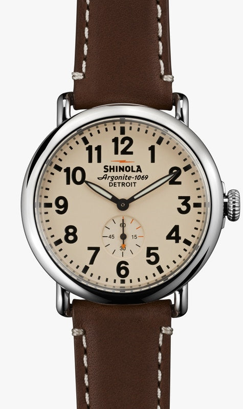 Shinola watch THE RUNWELL 47mm in Cream