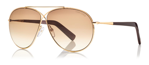 Tom Ford Sunglasses EVA TF374 in Gold