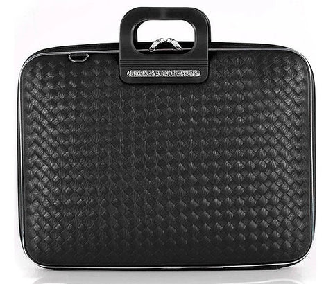 Bombata Bag Murano Weaved Briefcase - Black