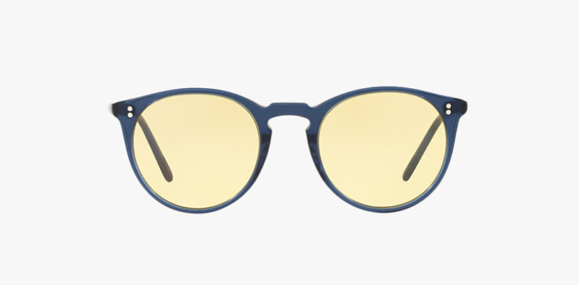 Oliver Peoples O'malley SUN in Bright Navy + Yellow lens