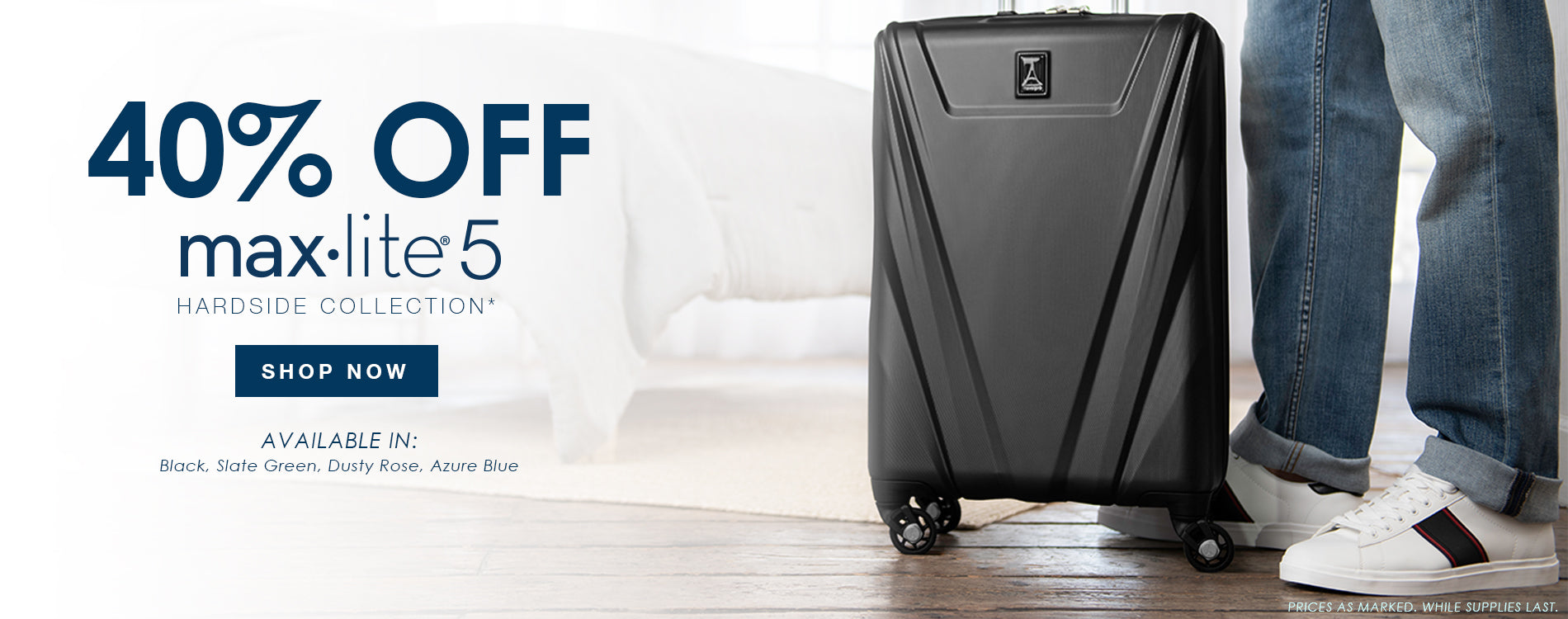 Exclusive 40% Off All Maxlite 5 Hardside Luggage