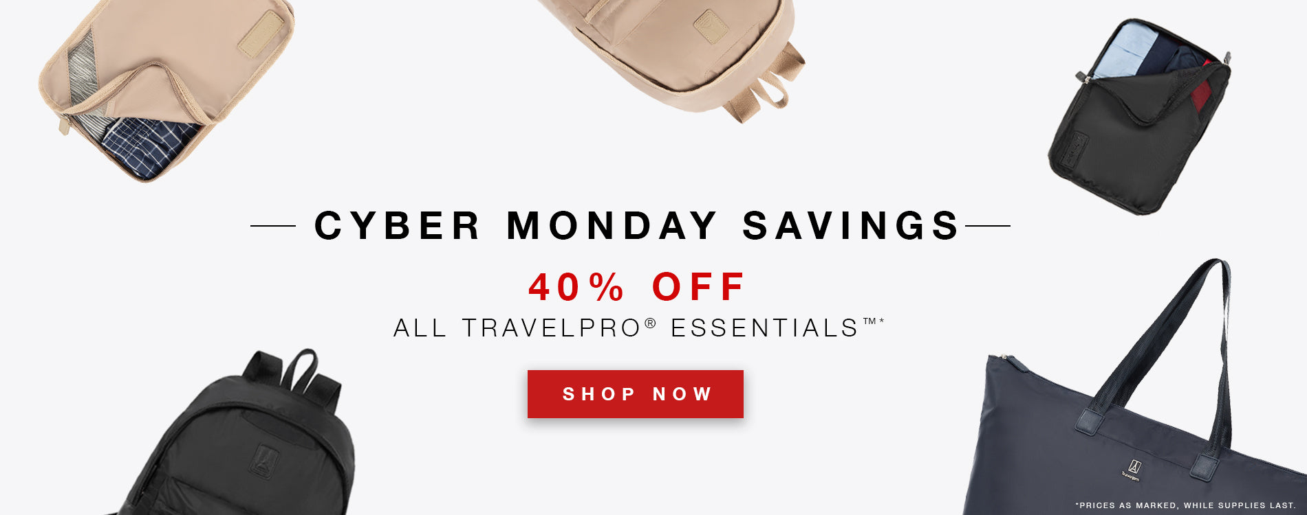Cyber Monday Savings: 40% Off Travelpro Essentials Collection
