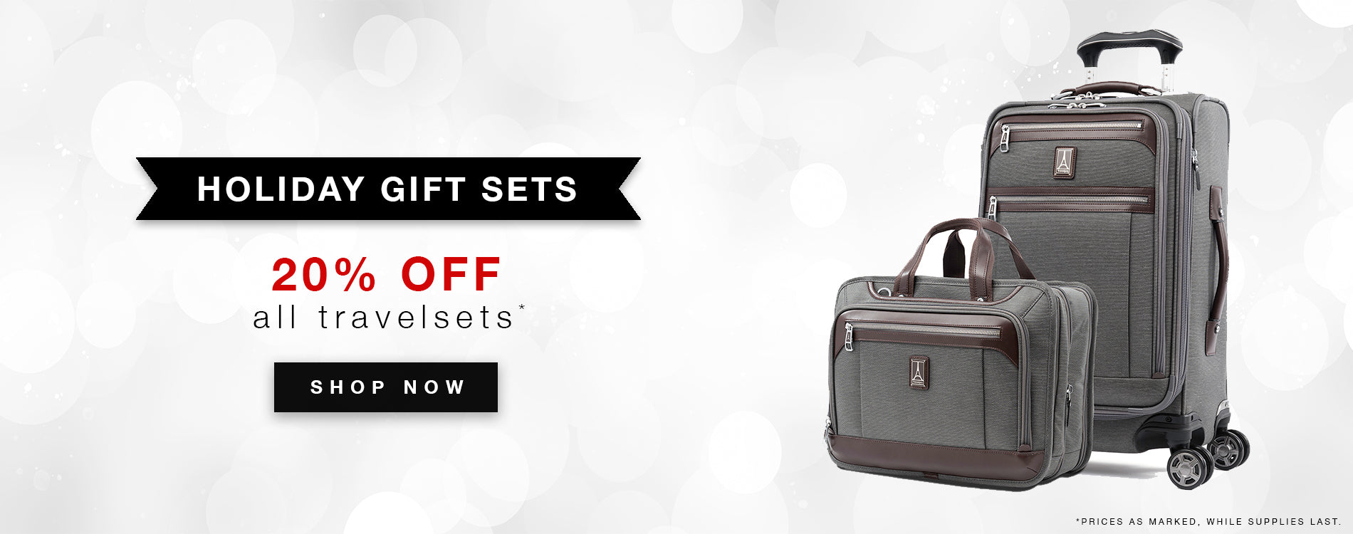Save 20% Off On All Travel Sets!