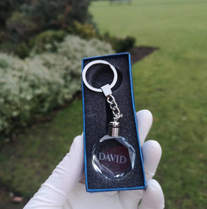 CRYSTAL KEYCHAIN WITH YOUR OWN NAME