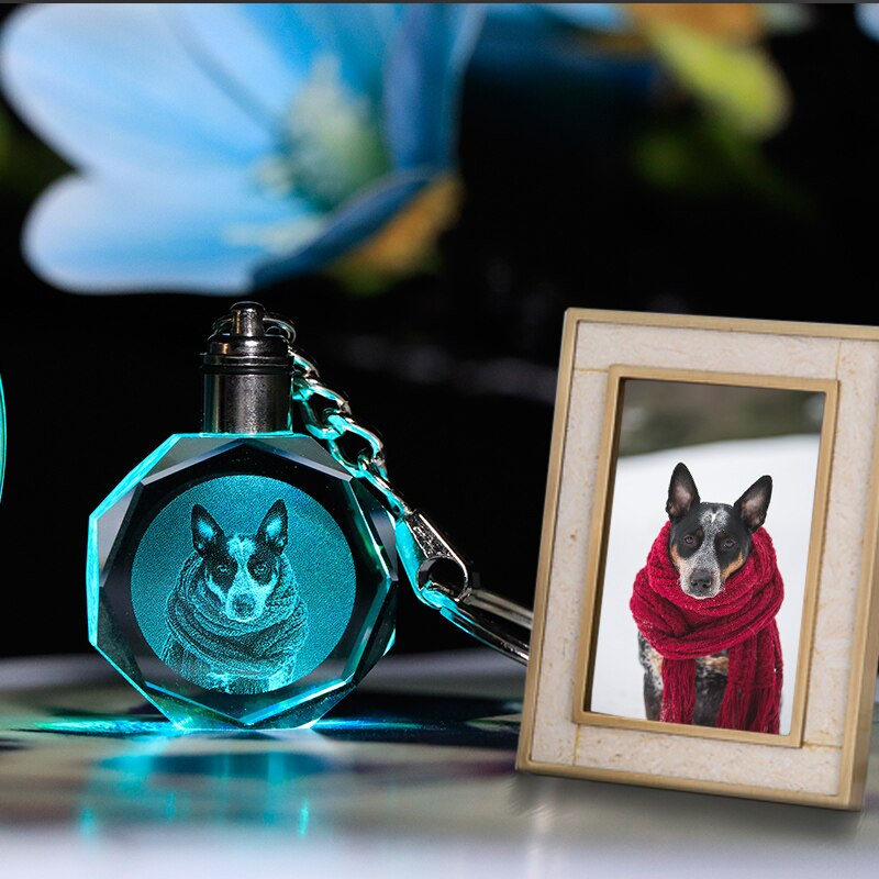 CUSTOMIZED PHOTO KEYCHAIN WITH YOUR PET PHOTO