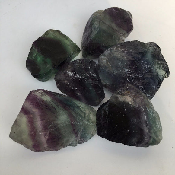 5x Natural Raw Fluorite Gemstone Crystal Stone *100-120g