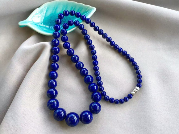 Natural Royal Blue Lapis Lazuli Gemstone Necklace *5-14mm