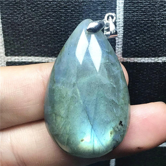 Natural Labradorite Gemstone Pendant *12.9g