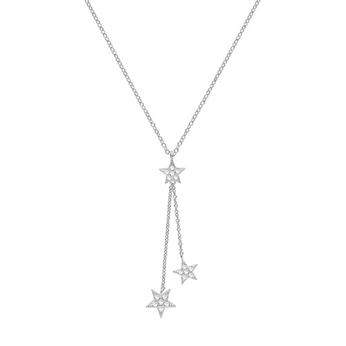 The Silver Triple star necklace