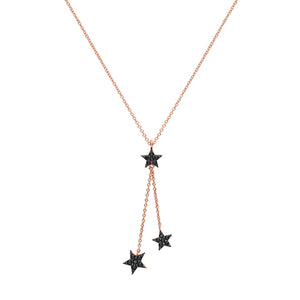 The Rose Triple Star necklace