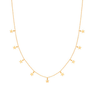 The Golden Star Charm Necklace