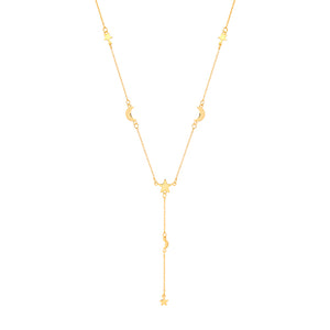 The Golden Moon & Star Necklace