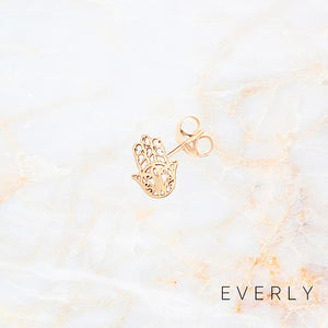 The Solid Gold Hamsa Stud