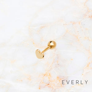 The Solid Gold Heart Stud
