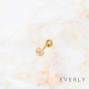 The Heart Pave Stud