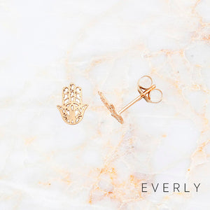 The Solid Gold Hamsa Studs