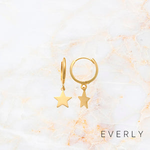 The Star Charm Hoops