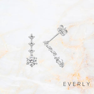 White Gold Drop Studs