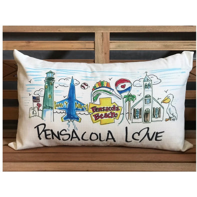 Custom Pensacola Love Pillow