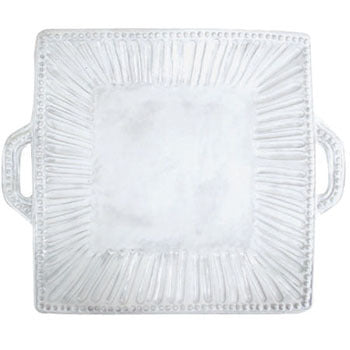 "Incanto Square Handled Platter, 16.75"" x 14"""