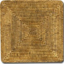 Rattan Square Placemats, 14""